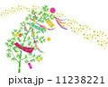 七夕飾り 笹飾り 天の川のイラスト 11238221