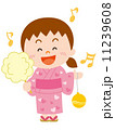 夏祭りの女の子_イラスト 11239608