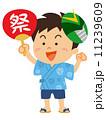 夏祭りの男の子_イラスト 11239609