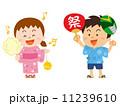夏祭りの子供_イラスト 11239610
