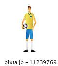 サッカー選手 男性 サッカーのイラスト 11239769