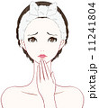 ショック 人物 女性のイラスト 11241804