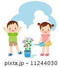 幼児 水やり 子供のイラスト 11244030