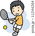ベクター テニス 男性のイラスト 11244264