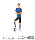サッカー選手 人物 サッカーのイラスト 11244632