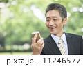 50代 スマートフォン ビジネスマンの写真 11246577