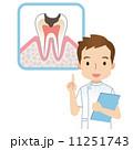 虫歯予防 人物 男性のイラスト 11251743