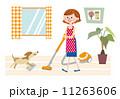 女 掃除 ベクターのイラスト 11263606
