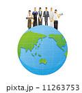 働く人々 職種 地球のイラスト 11263753