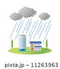 集中豪雨 ゲリラ豪雨 家 ビル 11263963
