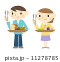 パンを買う男女 11278785
