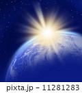 地球 惑星 太陽光のイラスト 11281283