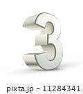 3つ 三 三つのイラスト 11284341