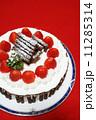 手作りのクリスマスケーキ 11285314