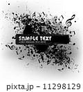 抽象的 ミュージック 譜面のイラスト 11298129