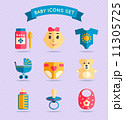 Baby child icons set 11305725