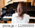 ピアノを弾く若い女性 11305950
