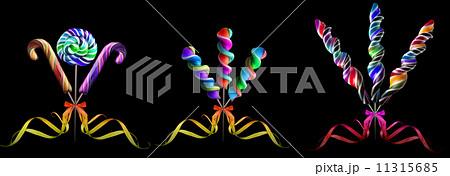 Bright colorful lollipop setの写真素材 [11315685] - PIXTA