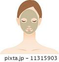 美肌 女性 パックのイラスト 11315903