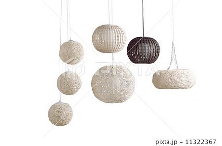 modern design of rattan ceiling lampsの写真素材 [11322367] - PIXTA
