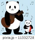 合奏 動物 パンダのイラスト 11332728