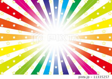 背景素材壁紙星星の模様 星模様星の図柄 虹 虹色 レインボー
