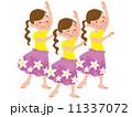 フラダンス 踊る ダンスのイラスト 11337072