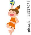 ビーチバレー ボール 女の子のイラスト 11337074