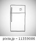 冷凍庫 ドローイング 絵のイラスト 11359086