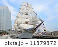 帆船日本丸の総帆展帆・満船飾 11379372