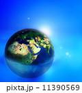 地球 青 青いのイラスト 11390569