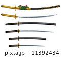 刀剣 刀 日本刀のイラスト 11392434