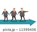 チームワーク ビジネスマン 実業家のイラスト 11399406