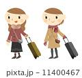 スーツケース 旅行鞄 キャリーバッグのイラスト 11400467
