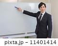 ホワイトボード サラリーマン ビジネスマンの写真 11401414