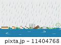 洪水 浸水 ベクターのイラスト 11404768