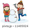雪遊び 11405024