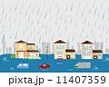 洪水 浸水 ベクターのイラスト 11407359