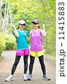 ジョギングウエア ランニングウェア ガッツポーズの写真 11415883