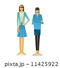 姉妹 人物 笑顔のイラスト 11425922