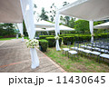 wedding marquee with bouquets of roses 11430645