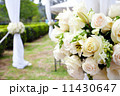 wedding marquee with bouquets of roses 11430647