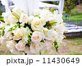 wedding marquee with bouquets of roses 11430649