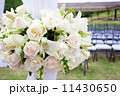 wedding marquee with bouquets of roses 11430650