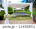 wedding marquee with bouquets of roses 11430651