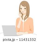 操作 パソコン 女性のイラスト 11431332
