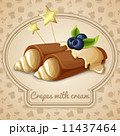 Crepes with cream emblem 11437464