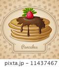 Baked pancakes emblem 11437467