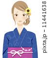 着物 女性 人物のイラスト 11441638