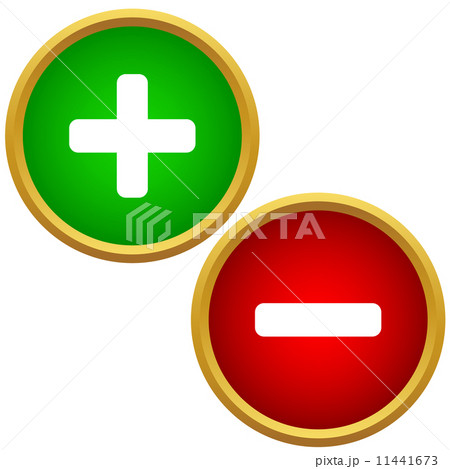 Positive and negative buttons 11441673